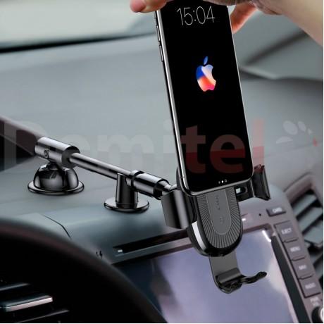 Стойка за автомобил BASEUS Heukji Gravity с безжично зареждане Черен