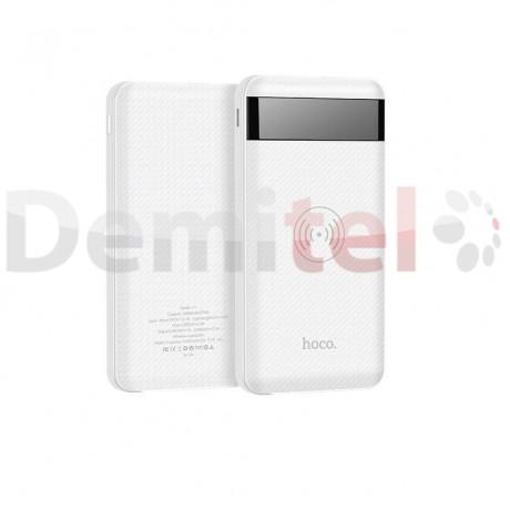 Преносима батерия HOCO J11 с безжично зареждане 10000mAh Бял