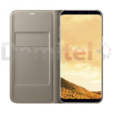 Тефтер SAMSUNG LED View Cover за Galaxy S8 Plus Златен