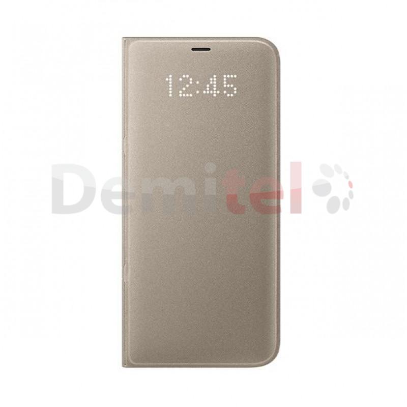 Тефтер SAMSUNG LED View Cover за Galaxy S8 Plus Златен