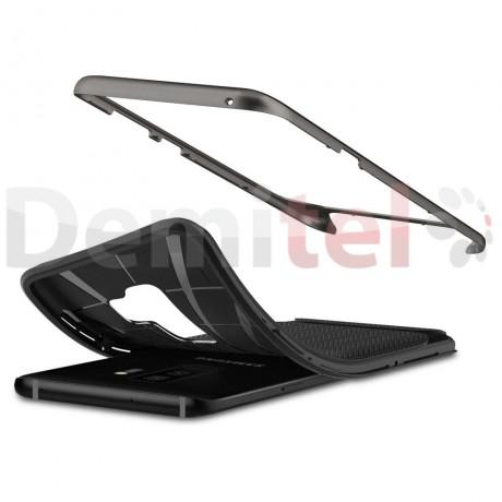 Силиконов гръб SPIGEN Neo Hybrid за Galaxy S9 Plus Черен-сив