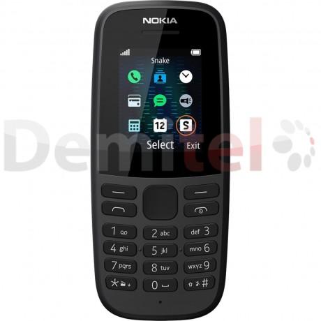 Телефон NOKIA 105 (2019) Dual Sim Черен