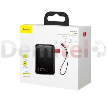 Преносима батерия BASEUS Mini S Bracket с безжично зареждане 10000mAh Червен