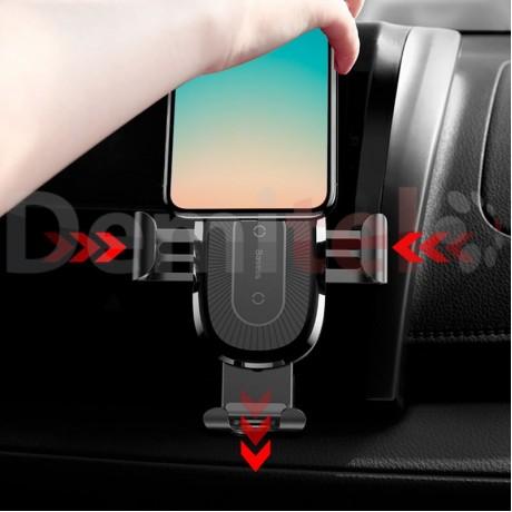 Стойка за автомобил BASEUS Wireless Gravity Air с безжично зареждане Черен
