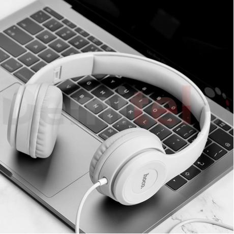 Слушалки HOCO W21 с микрофон Сиви