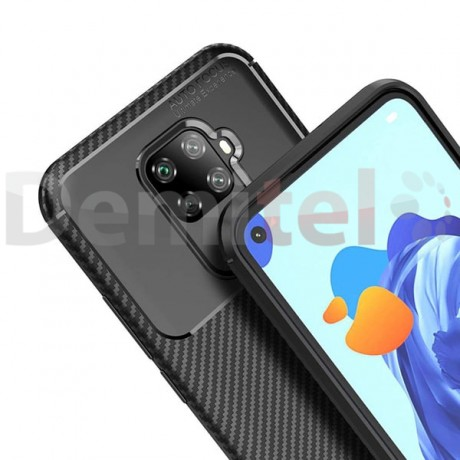 Силиконов гръб AUTO FOCUS Carbon за Huawei Mate 30 Lite Черен