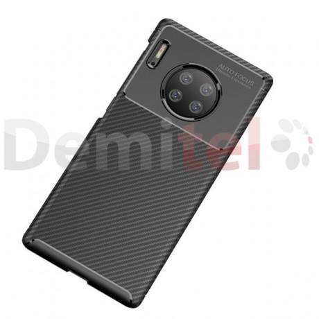 Силиконов гръб AUTO FOCUS Carbon за Huawei Mate 30 Pro Черен