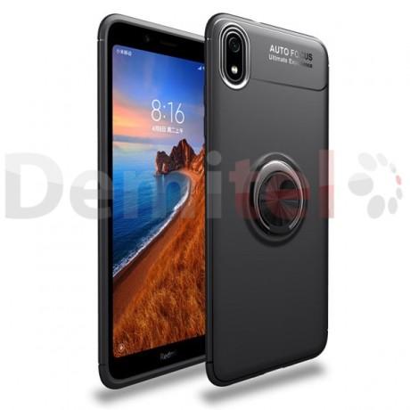 Силиконов гръб AUTO FOCUS Magnetic Ring за Xiaomi Redmi 7A Черен