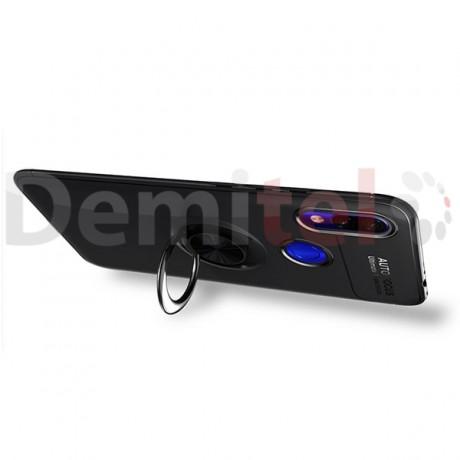 Силиконов гръб AUTO FOCUS Magnetic Ring за Xiaomi Redmi 7 Черен