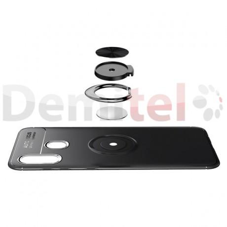 Силиконов гръб AUTO FOCUS Magnetic Ring за Samsung Galaxy A40 Черен