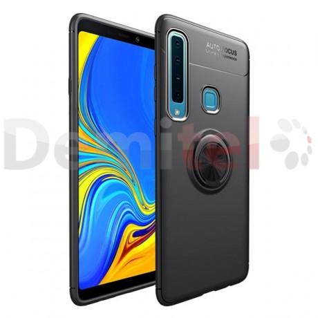 Силиконов гръб AUTO FOCUS Magnetic Ring за Samsung Galaxy A9 2018 Черен