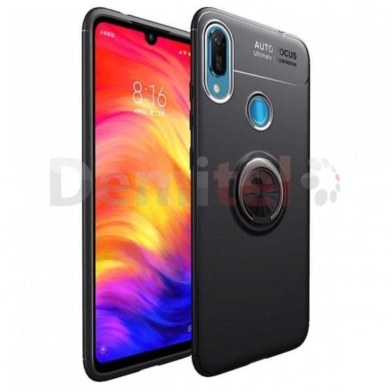 Силиконов гръб AUTO FOCUS Magnetic Ring за Huawei Y6 2019 Черен