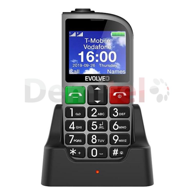 Мобилен телефон EVOLVEO EasyPhone FM Сребрист