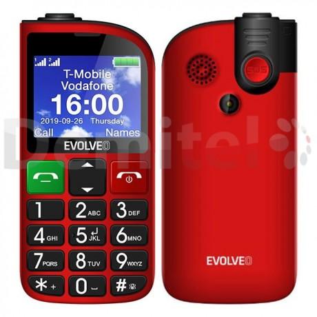 Мобилен телефон EVOLVEO EasyPhone FM Червен