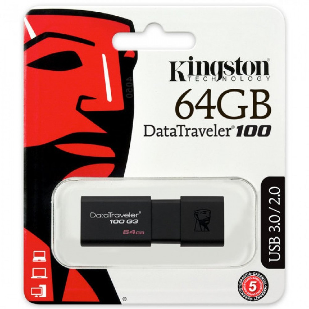 KINGSTON DATA TRAVELER 100 G3 64GB USB 3.0